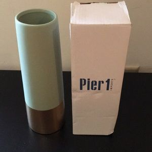 Pier 1 Accents - COPY - COPY - New Pier 1 Sage Vase-Ceramic with G…